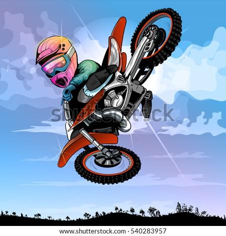 motocross cartoon  funny  for