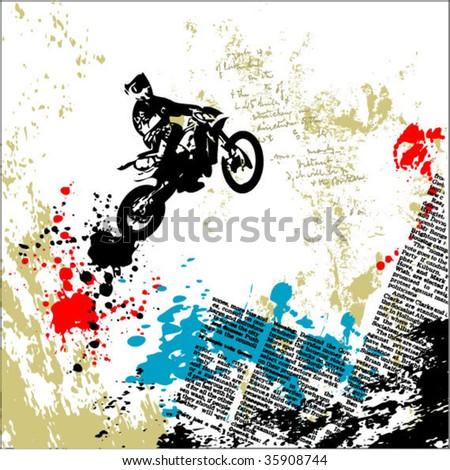 motocross grunge vector background