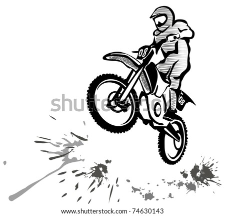 free dirt bikes vector download free vector art stock graphics 110Cc Pit Bike motocross hand drawn illustration in grunge style