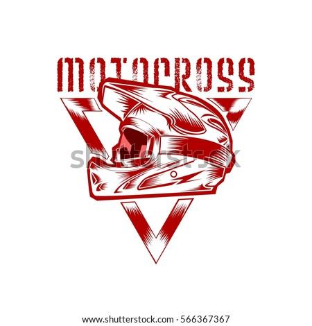 motocross helmet vector
