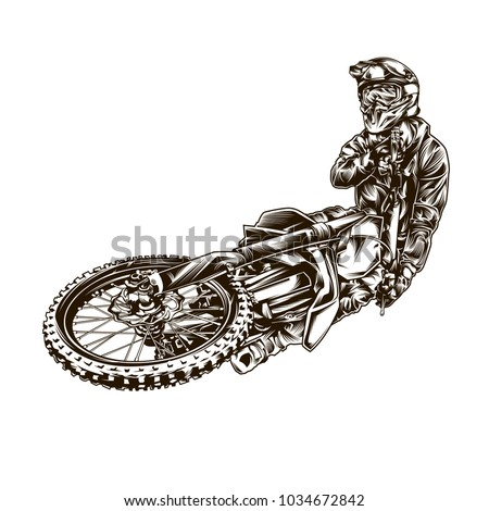 motocross illustration on white