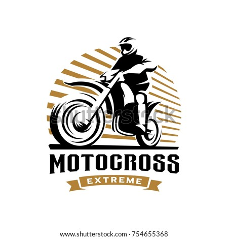 motocross logo illustration