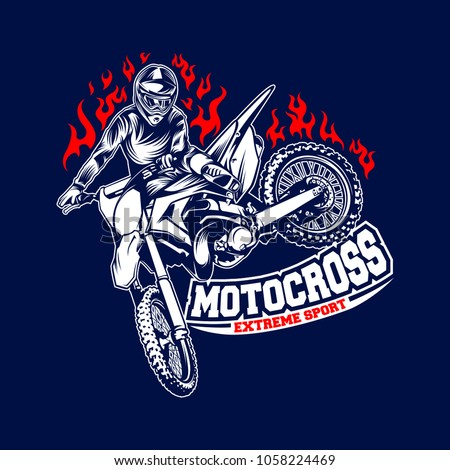 Motocross logo template vector illustration