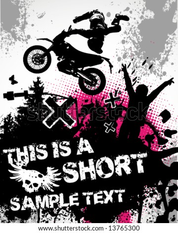 Motocross Poster Vector Illustration