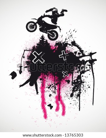 Motocross Poster Vector Illustration