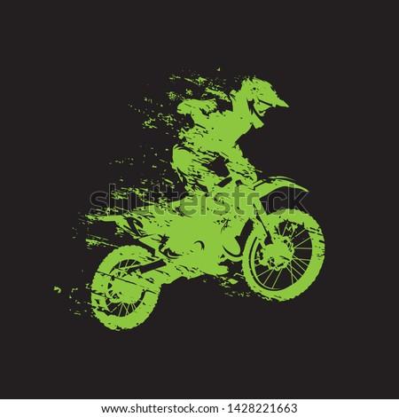 motocross race  rider on