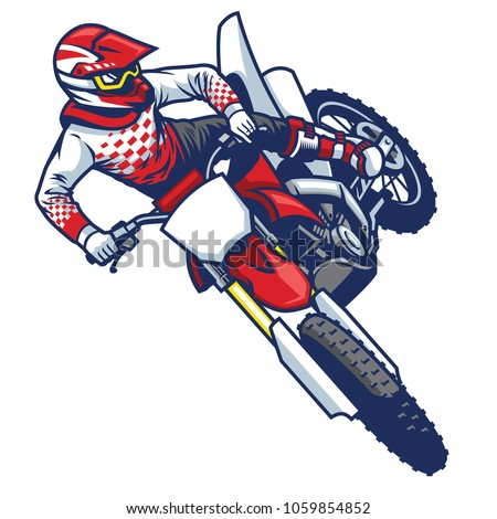 motocross rider doing jumping