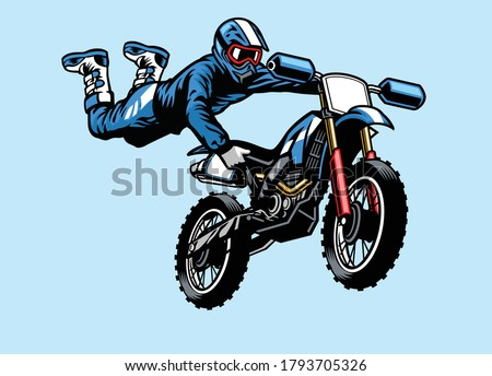 motocross rider jumping with