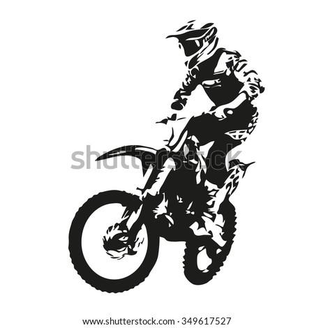 motocross rider motor vector
