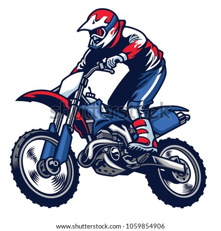 motocross rider ride the