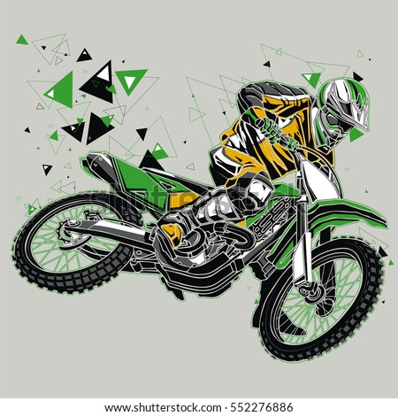 motocross rider with a graphic
