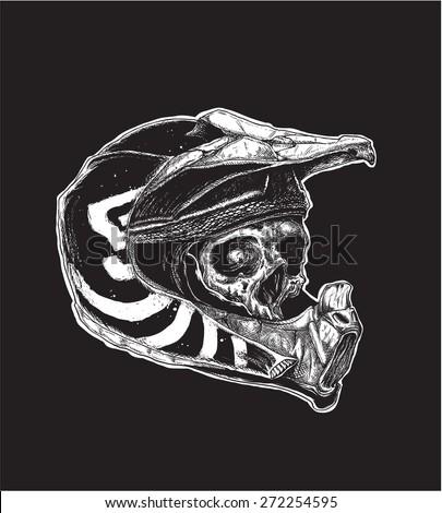 motocross skull