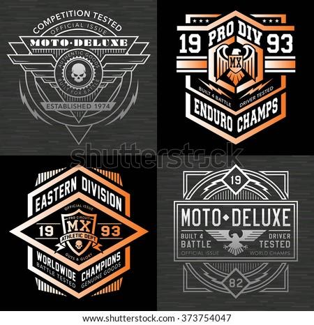 motocross sport emblem graphic