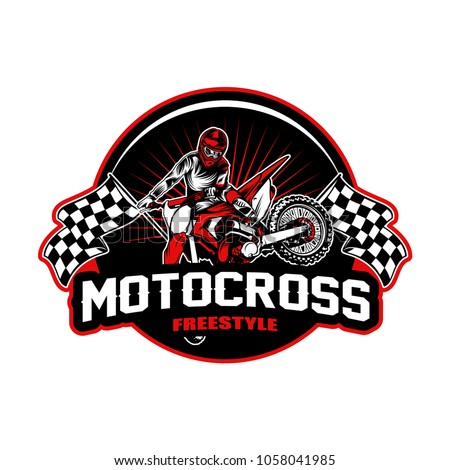 Motocross sport vector illustration