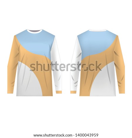 Motocross sportswear kit design. Sportswear design for competitions, promo, racing, gaming. Templates jersey for mountain biking, downhill. Sublimation print blank. Vector illustration.