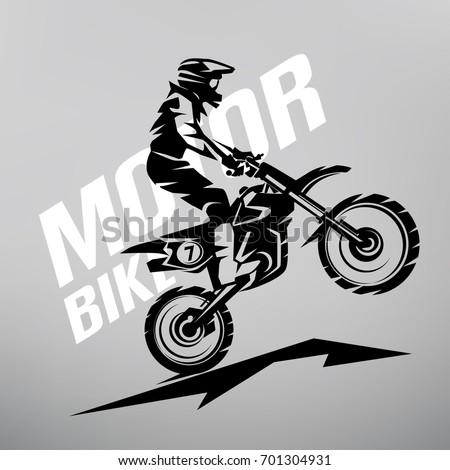 motocross stylized vector