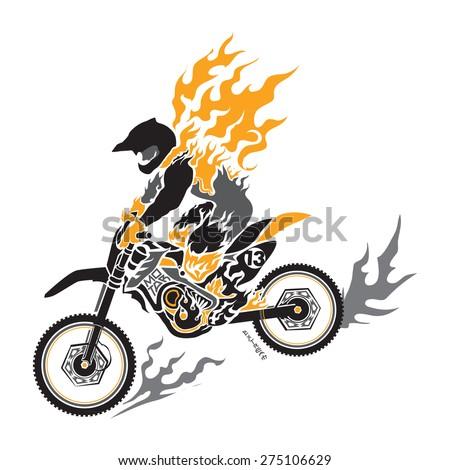 motocross vector