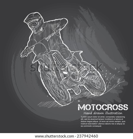 motocross vector illustrations