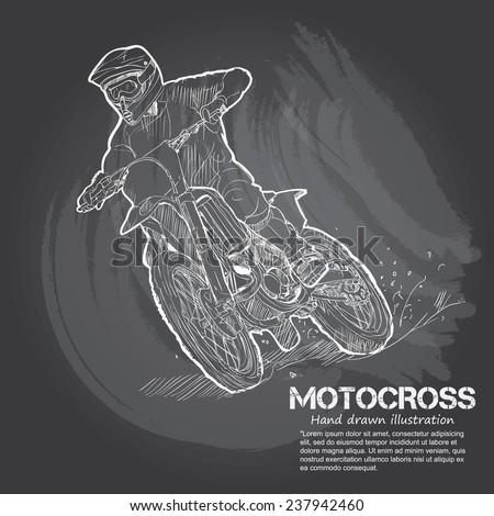 motocross vector illustrations