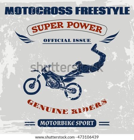 motocross vector  motocross