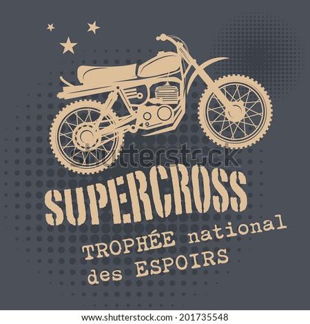 motocross vintage background