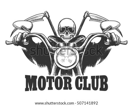 motor club emblem death on a