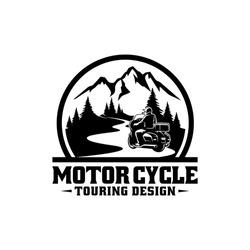 motor cycle touring logo design