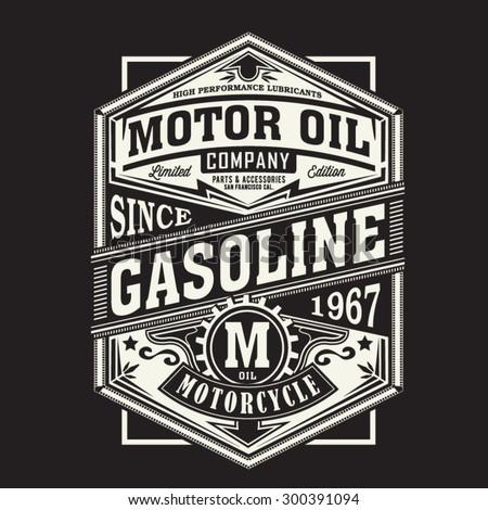 motor gasoline typography  t...