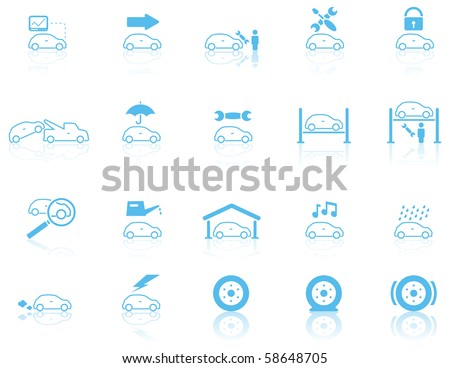 Motor General Maintenance Icon Set 1