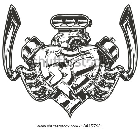 hot rod engine art with Shutterstock Eps 184157681 on Piston Engine furthermore Shutterstock Eps 184157681 also Vector Turbo Skull 163426031 as well KUS HB SCORPION5 additionally 31 Ford Coupe Hot Rod Parts.