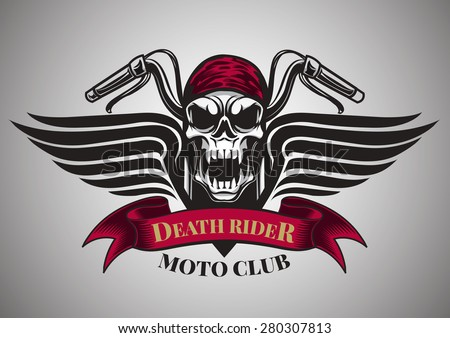motor racing skulls graphic