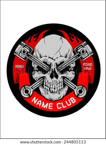 motor skull crest graphic