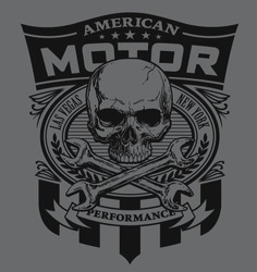 Motor skull shield design