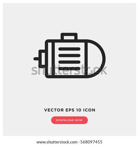 Motor vector icon, engine symbol. Modern, simple flat vector illustration for web site or mobile app