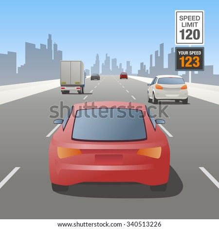 motor vehicles driving on