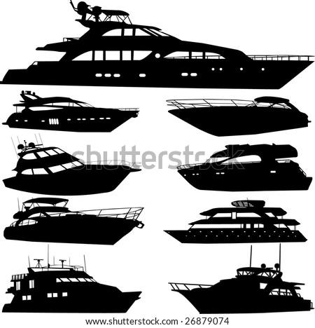 motor yacht - vector