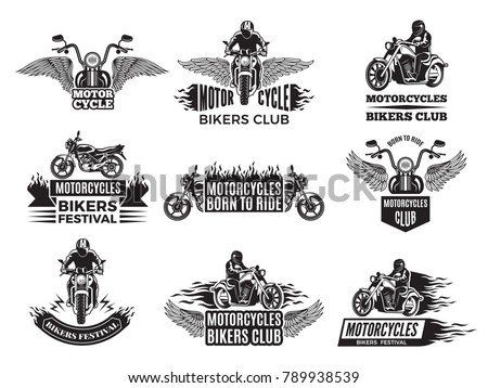 motorbike illustrations logos