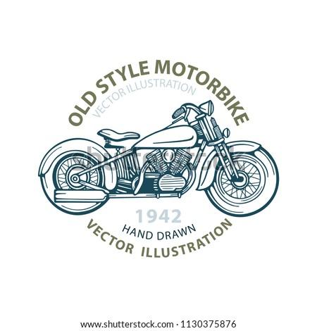 motorbike old style motorbike