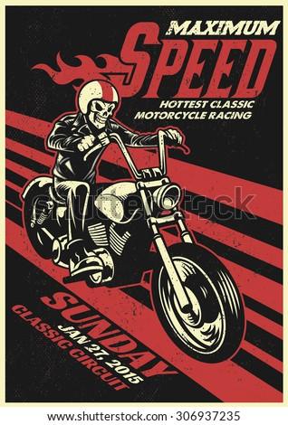 motorbike racing event poster...