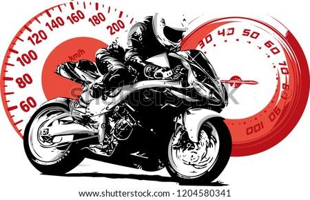 motorbike rider  abstract