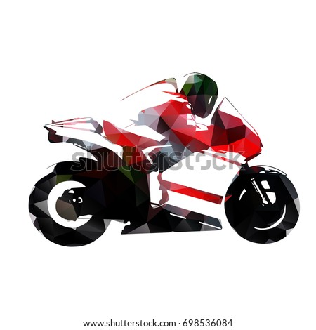 motorbike rider  abstract