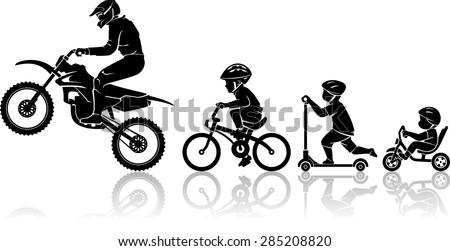 motorbike rider evolution