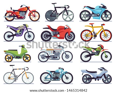 motorbike set motorcycles and