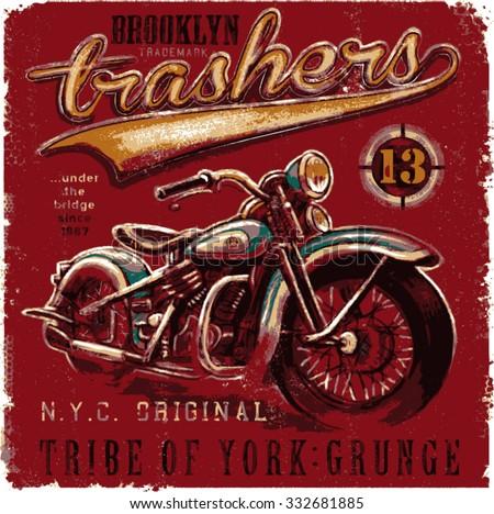 motorbike t shirt graphic design