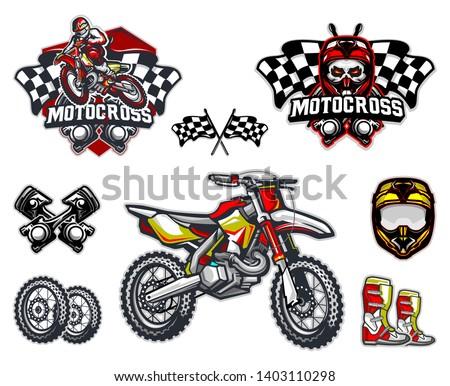 motorcross bike and equipment