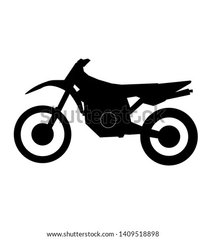 motorcross motorcycle vector in