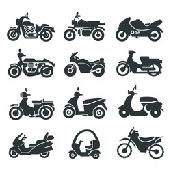 Motorcycle/bike Icons Collection