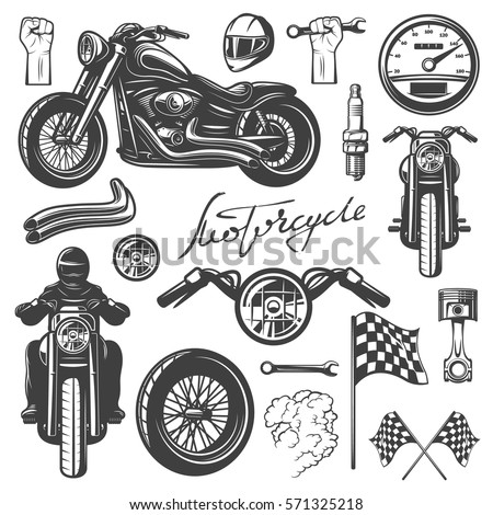 motorcycle chopper  front and