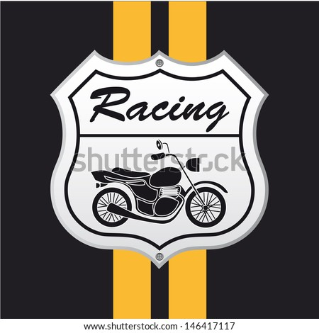 motorcycle design over black