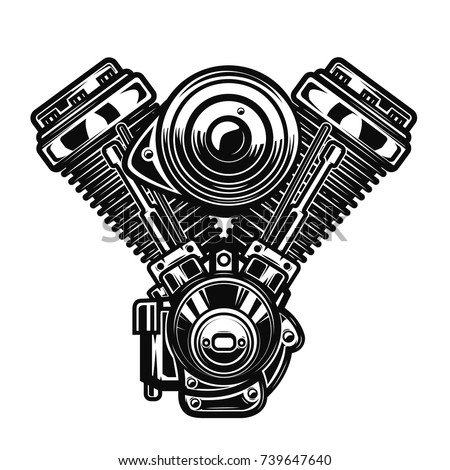 motorcycle engine illustration
